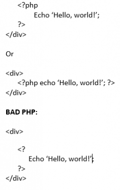 good and bad php