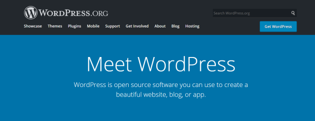 wordpress.org front page